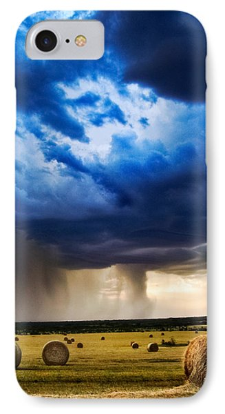 Hay In The Storm IPhone Case by Eric Benjamin