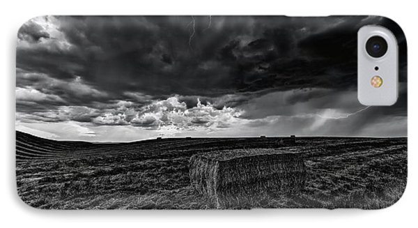 Hay Storm Black And White IPhone Case by Mark Kiver
