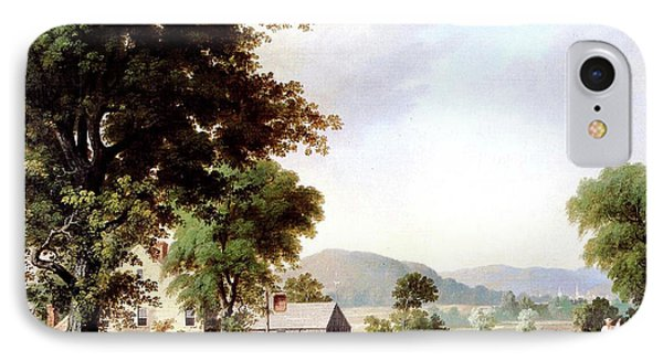 Haying At Jones Inn, 1854 IPhone Case by George Durrie