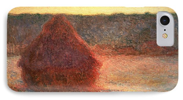 Haystacks At Sunset IPhone Case by Claude Monet