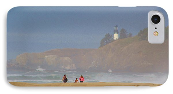 Hazy Day At The Beach IPhone Case by Michele Martin