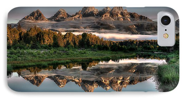 Hazy Reflections At Scwabacher Landing IPhone Case by Ryan Smith