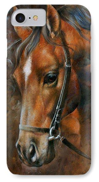 Head Horse Phone Case by Arthur Braginsky