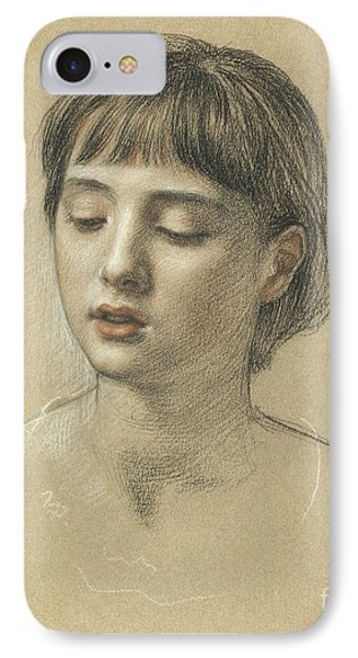 Head Of A Girl, 1883 IPhone Case by Edward John Poynter
