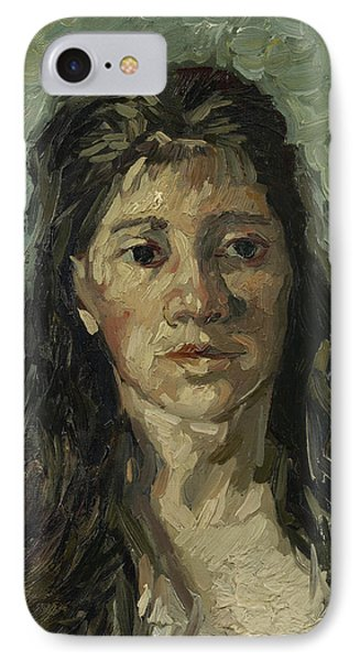 Head Of A Prostitute IPhone Case by Vincent van Gogh