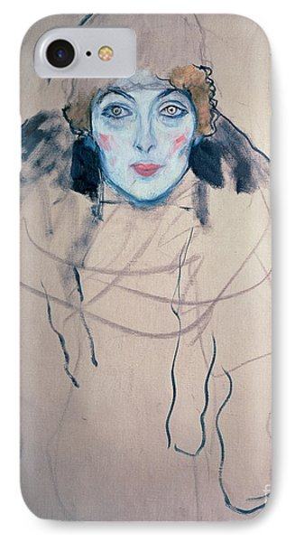 Head Of A Woman IPhone Case by Gustav Klimt