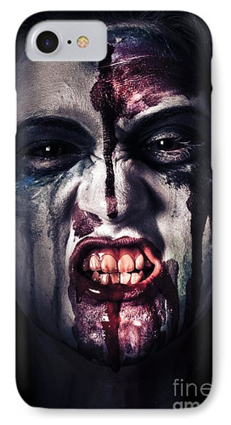 Head Shot On A Pure Evil Zombie Girl Phone Case by Jorgo Photography - Wall Art Gallery