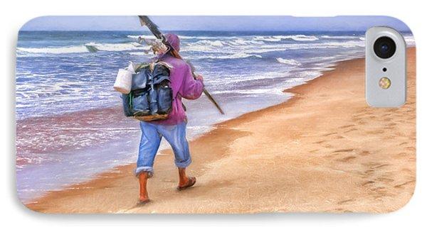 Heading Home - Ocean Fisherman IPhone Case by Nikolyn McDonald