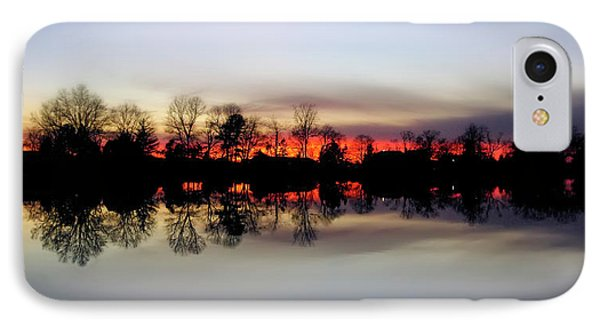 Hearns Pond Silhouette IPhone Case by Brian Wallace