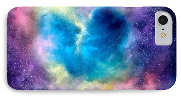 Heart Of The Universe IPhone 7 Case by Sally Seago