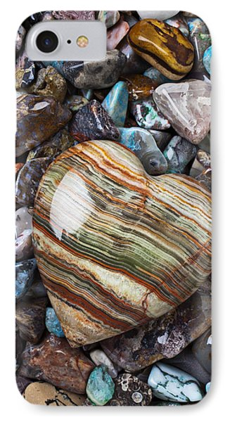 Heart Stone IPhone Case by Garry Gay