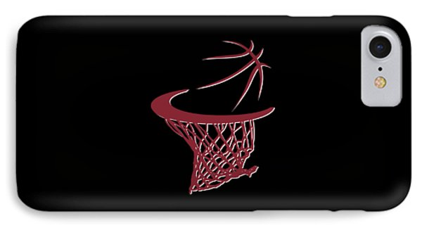 Heat Basketball Hoop IPhone Case by Joe Hamilton