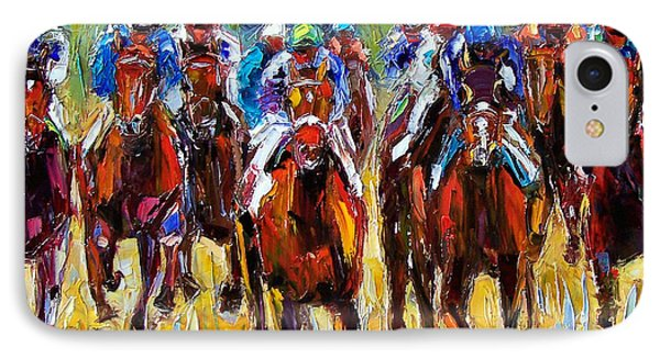 Heated Race IPhone Case by Debra Hurd