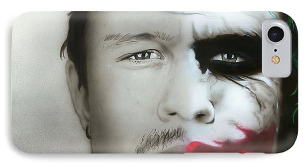 ' Heath Ledger / Joker ' IPhone Case by Christian Chapman Art