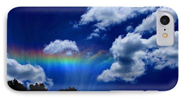 Heavens Rainbow Phone Case by Linda Sannuti