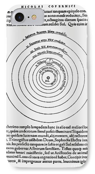 Heliocentric Universe, Copernicus, 1543 Phone Case by Science Source