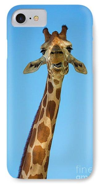Hello Giraffe IPhone Case by Inge Johnsson