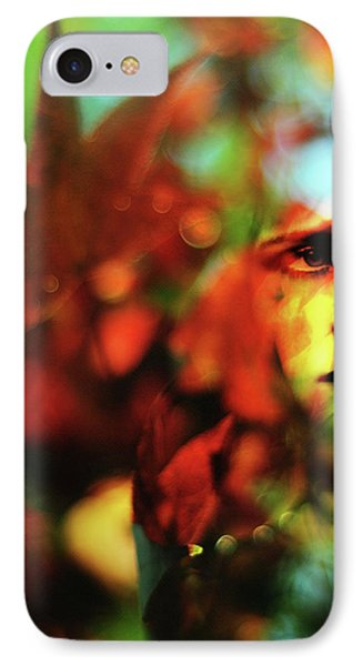Her Autumn Eyes Phone Case by Rebecca Sherman