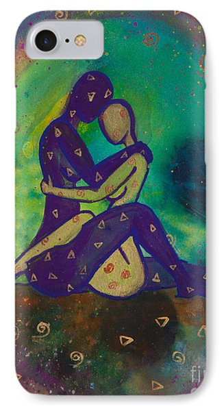 Her Loves Embrace Divine Love Series No. 1006 IPhone Case by Ilisa  Millermoon