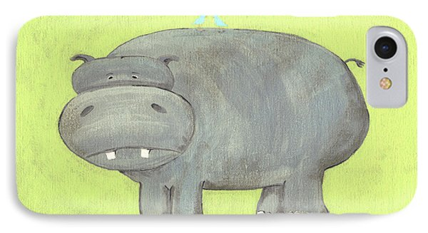 Herbert Hippo Nursery Art IPhone Case by Katie Carlsruh