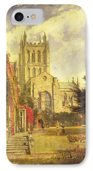Hereford Cathedral Phone Case by John William Buxton Knight