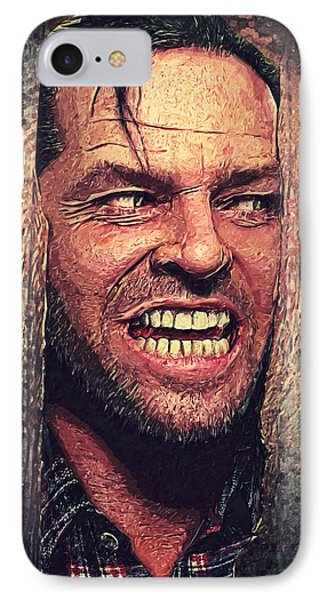 Here's Johnny - The Shining  IPhone 7 Case by Taylan Soyturk
