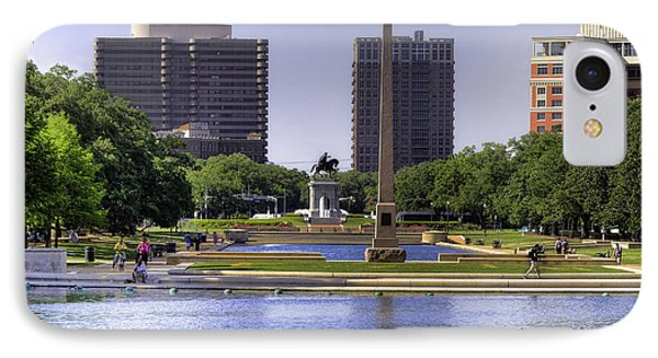 Hermann Park IPhone Case by Tim Stanley