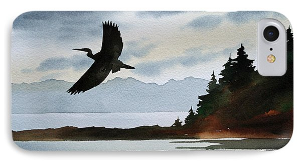 Heron Silhouette IPhone Case by James Williamson