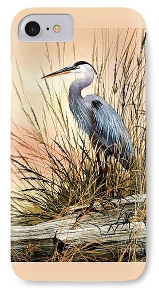 Heron Sunset IPhone 7 Case by James Williamson