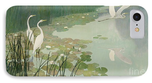 Herons In Summer IPhone 7 Case by Newell Convers Wyeth