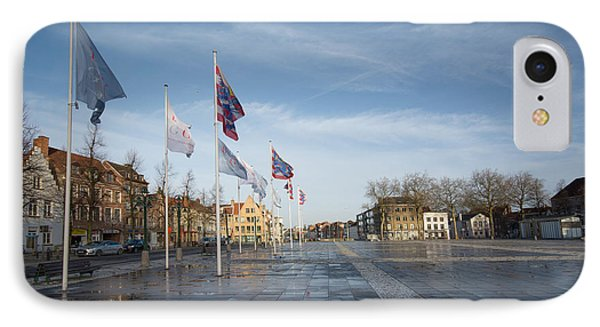 Het Zand, Bruges IPhone Case by Stephen Smith