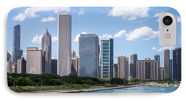 Hi-res Picture Of Chicago Skyline And Lake Michigan IPhone Case by Paul Velgos