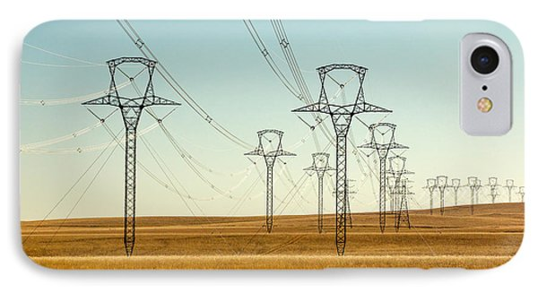 High Voltage Power Lines IPhone Case by Todd Klassy