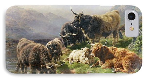 Highland Cattle IPhone Case by William Watson