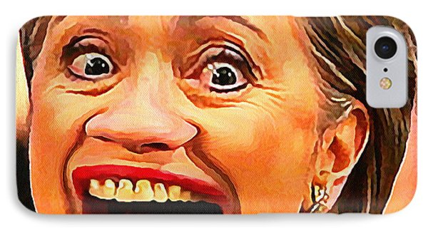 Hillary Clinton IPhone Case by Anthony Caruso