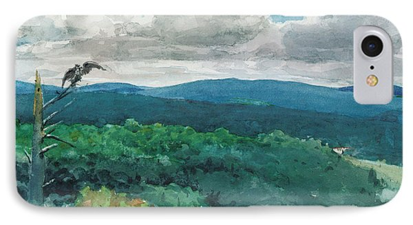 Hilly Landscape Phone Case by Winslow Homer