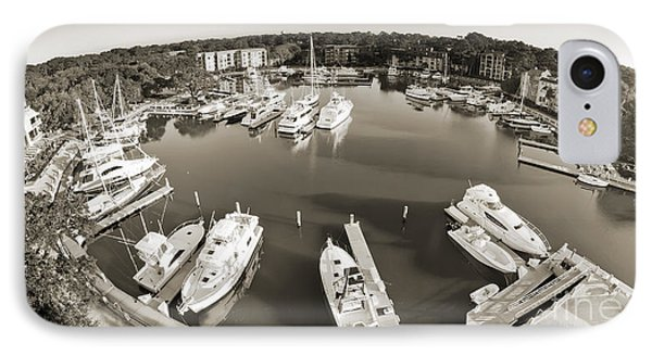 Hilton Head Harbor Town Yacht Basin 2012 IPhone Case by Dustin K Ryan