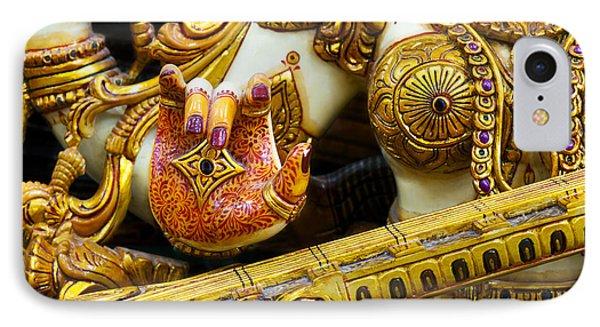Hindu Goddess Saraswati Detail IPhone Case by Tim Gainey