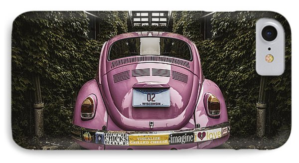Hippie Chick Love Bug IPhone Case by Scott Norris