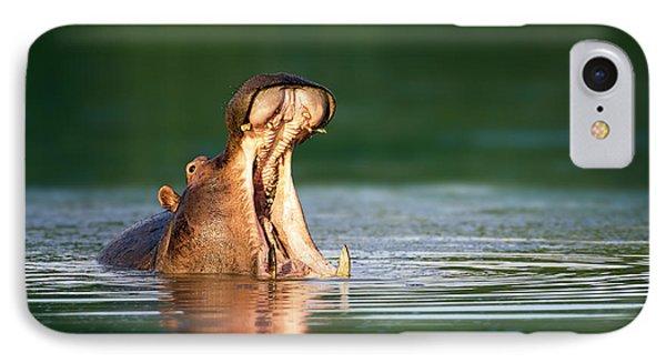 Hippopotamus IPhone 7 Case by Johan Swanepoel