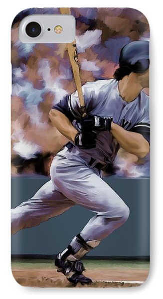 Hit Man  Don Mattingly  Phone Case by Iconic Images Art Gallery David Pucciarelli