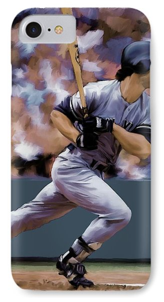 Hit Man  Don Mattingly  IPhone Case by Iconic Images Art Gallery David Pucciarelli