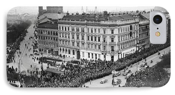 Hitler Enters Vienna IPhone Case by Underwood Archives