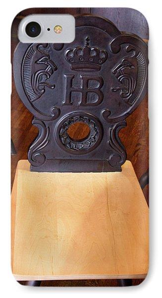 Hofbrauhaus Chair IPhone Case by Darrell Foster