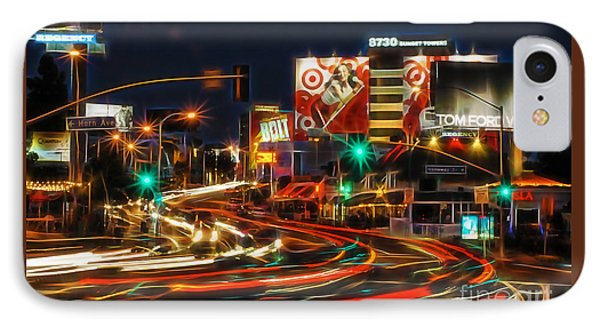 Hollywood Sunset Strip IPhone Case by Marvin Blaine