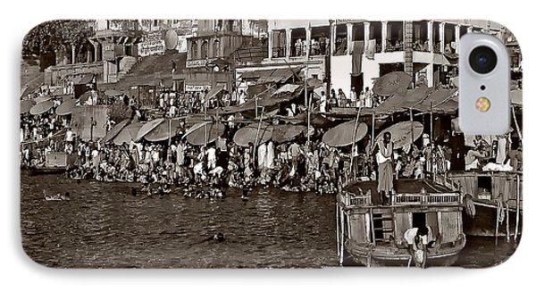 Holy Ganges Monochrome Phone Case by Steve Harrington