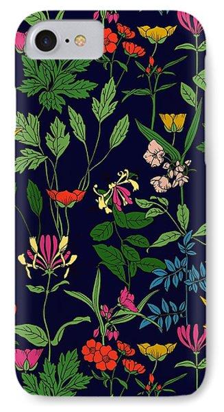 Honeysuckle Floral IPhone Case by Sholto Drumlanrig