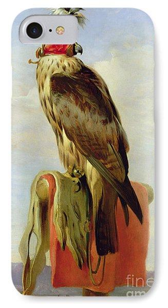 Hooded Falcon IPhone Case by Sir Edwin Landseer
