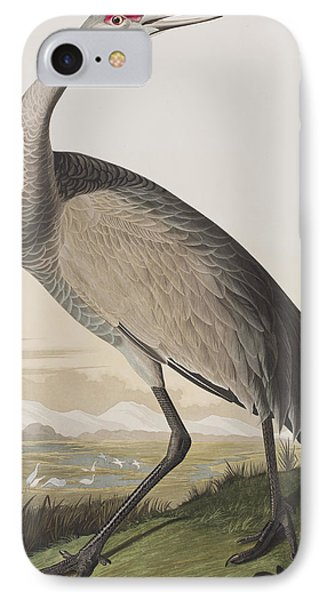 Hooping Crane IPhone 7 Case by John James Audubon