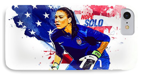 Hope Solo IPhone 7 Case by Semih Yurdabak
